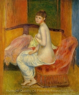 Seated Nude (at east) painting reproduction, Pierre-Auguste Renoir