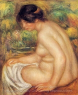 Seated Nude in Profile (Gabrielle) painting reproduction, Pierre-Auguste Renoir