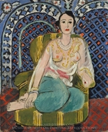 Seated Odalisque painting reproduction, Henri Matisse