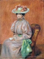 Seated Woman painting reproduction, Pierre-Auguste Renoir