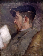 Self-Portrait painting reproduction, Theodore Robinson