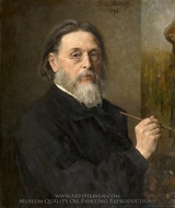 Self-Portrait painting reproduction, Jules Breton