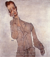 Self-Portrait painting reproduction, Egon Schiele