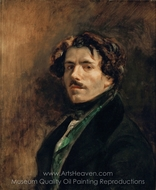 Self Portrait painting reproduction, Eugene Delacroix