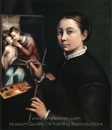 Self-Portrait painting reproduction, Sofonisba Anguissola