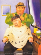 Self-Portrait painting reproduction, Fernando Botero