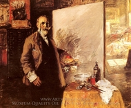 Self-Portrait painting reproduction, William Merritt Chase
