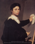 Self-Portrait painting reproduction, Jean Auguste Dominique Ingres