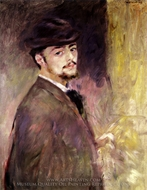 Self-Portrait at the Age of Thirty-five painting reproduction, Pierre-Auguste Renoir