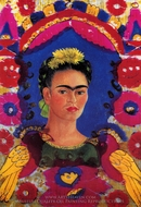 Self-Portrait, the Frame painting reproduction, Frida Kahlo