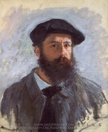 Self-Portrait with Beret painting reproduction, Claude Monet