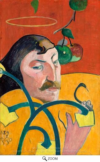 Paul Gauguin, Self-Portrait with Halo oil painting reproduction