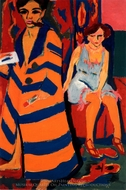 Self-Portrait with Model painting reproduction, Ernst Ludwig Kirchner