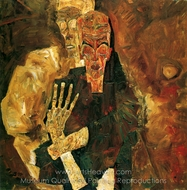 Self-Seers II (Death and Man) painting reproduction, Egon Schiele