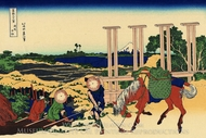Senju in the Musachi Province painting reproduction, Katsushika Hokusai