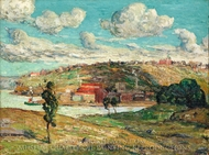 Shadows, Spuyten Duyvil Hill painting reproduction, Ernest Lawson