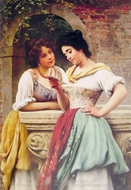 Shared Correspondance painting reproduction, Eugene De Blaas