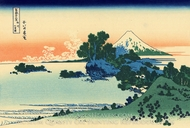 Shichiri Beach in Sagami Province painting reproduction, Katsushika Hokusai