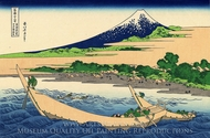 Shore of Tago Bay, Ejiri at Tokaido painting reproduction, Katsushika Hokusai