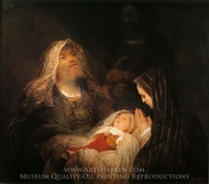 Simeon's Song of Praise painting reproduction, Aert De Gelder
