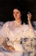 Sita and Sarita painting reproduction, Cecilia Beaux