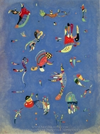 Sky Blue painting reproduction, Wassily Kandinsky