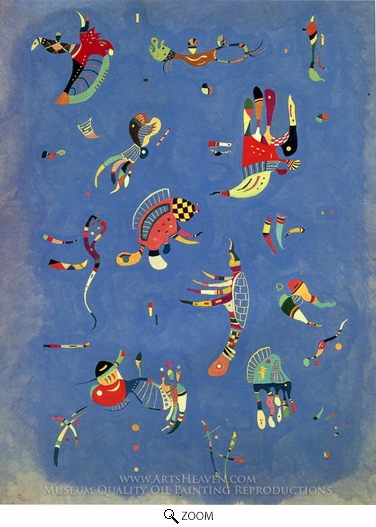 Wassily Kandinsky, Sky Blue oil painting reproduction