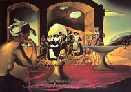 Slave Market with the Disappearing Bust of Voltaire painting reproduction, Salvador Dali (inspired by)