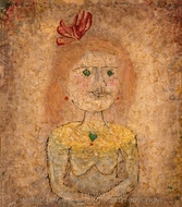 Small Portrait of a Girl in Yellow painting reproduction, Paul Klee