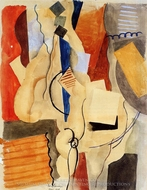 Smoking in the Shelter painting reproduction, Roger De La Fresnaye