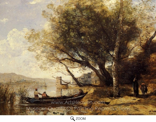 Jean-Baptiste Camille Corot, Smyrne-Bornabat oil painting reproduction