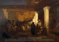 Snake Charmer at Tangier, Africa painting reproduction, Louis Comfort Tiffany
