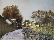Snow at Argenteuil painting reproduction, Claude Monet