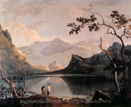 Snowdon from Llyn Nantlle painting reproduction, Richard Wilson