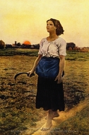 Song of the Lark painting reproduction, Jules Breton