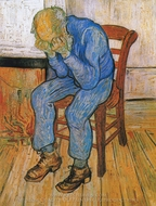 Sorrowing Old Man (At Eternity's Gate) painting reproduction, Vincent Van Gogh