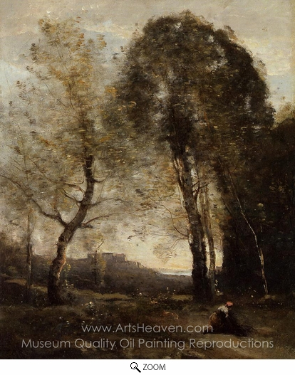 Jean-Baptiste Camille Corot, Souvenir of Italy oil painting reproduction