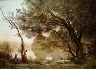 Souvenir of Mortefontaine painting reproduction, Jean-Baptiste Camille Corot