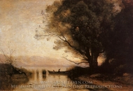 Souvenir of Riva painting reproduction, Jean-Baptiste Camille Corot