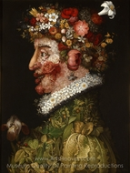 Spring painting reproduction, Giuseppe Arcimboldo