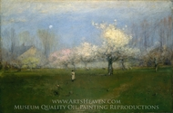 Spring Blossoms, Montclair, New Jersey painting reproduction, George Inness