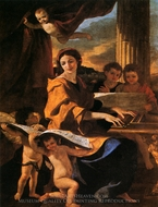 St. Cecilia painting reproduction, Nicolas Poussin