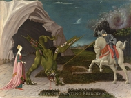 St. George and the Dragon painting reproduction, Paolo Uccello
