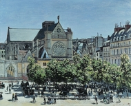 St. Germain L'Auxerrois painting reproduction, Claude Monet
