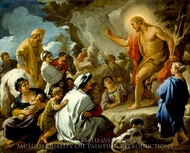 St. John the Baptist Preaching painting reproduction, Luca Giordano