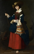 St. Margaret painting reproduction, Francisco De Zurbaran