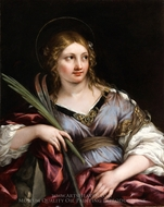 St. Martina painting reproduction, Pietro Da Cortona