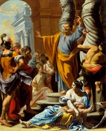 St. Peter Preaching in Jerusalem painting reproduction, Charles Poerson