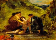 St. Sebastian with St. Irene and Attendant painting reproduction, Eugene Delacroix