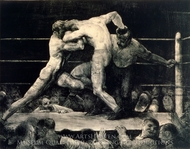 Stag at Sharkey's painting reproduction, George Bellows